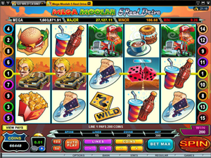 Mega Moolah 5 Reel Drive  screenshot